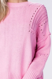 Honey Punch Pink Sweater - Product Mini Image