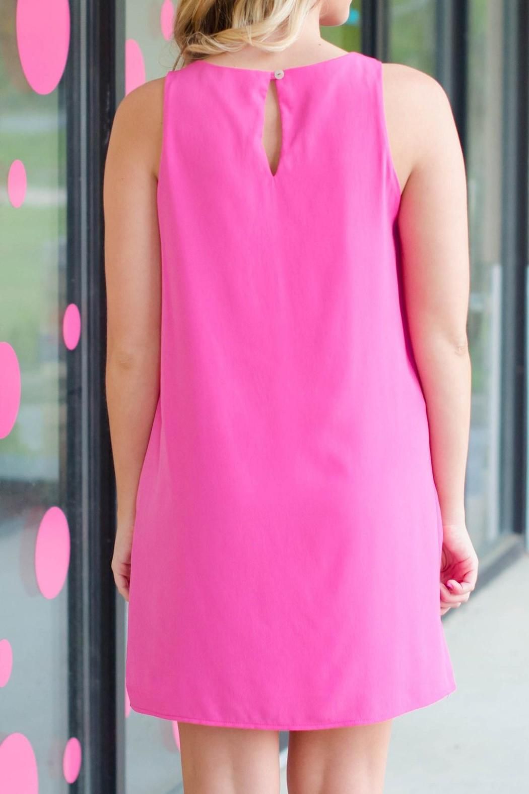 Honey Punch Pink Courtney Dress - Front Full Image