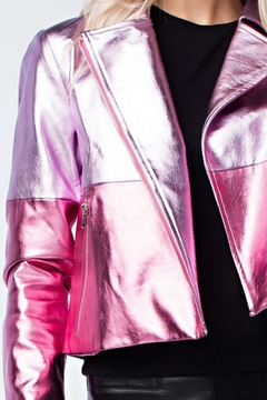 Honey Punch Pink Metallic Jacket - Product List Image