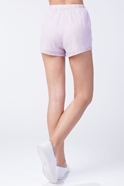 Honey Punch Pink Stripe Shorts - Back cropped