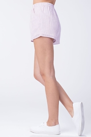 Honey Punch Pink Stripe Shorts - Side cropped
