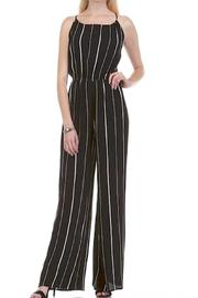 Honey Punch Pinstripe Halter Jumpsuit - Product Mini Image