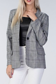 Honey Punch Plaid Blazer - Product Mini Image
