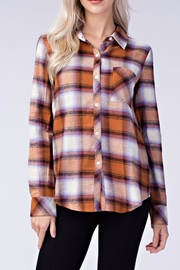 Honey Punch Plaid Button Down Shirt - Front cropped
