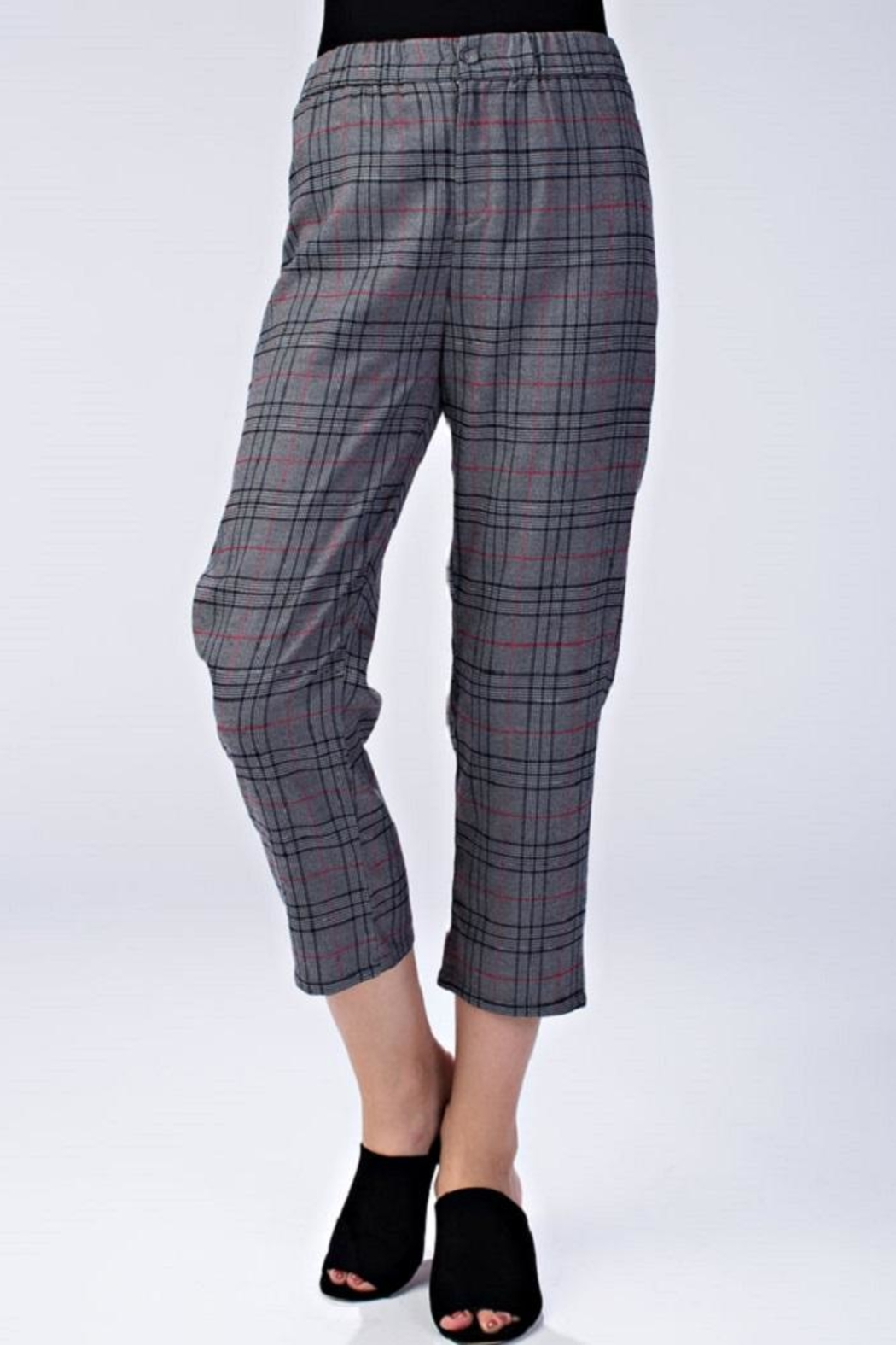 Honey Punch Plaid Dress Pants - Main Image