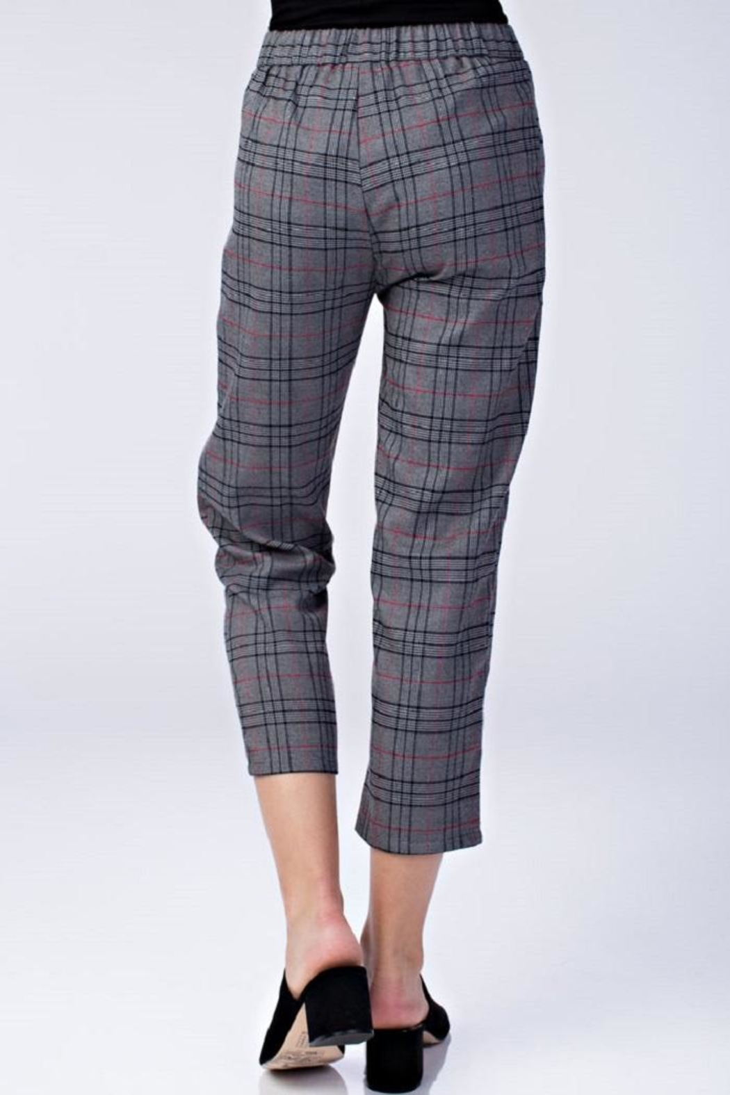 Honey Punch Plaid Dress Pants - Front Full Image