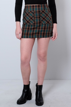 Honey Punch Plaid Mini Skirt - Product List Image