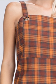 Honey Punch Plaid Overall Dress - Other