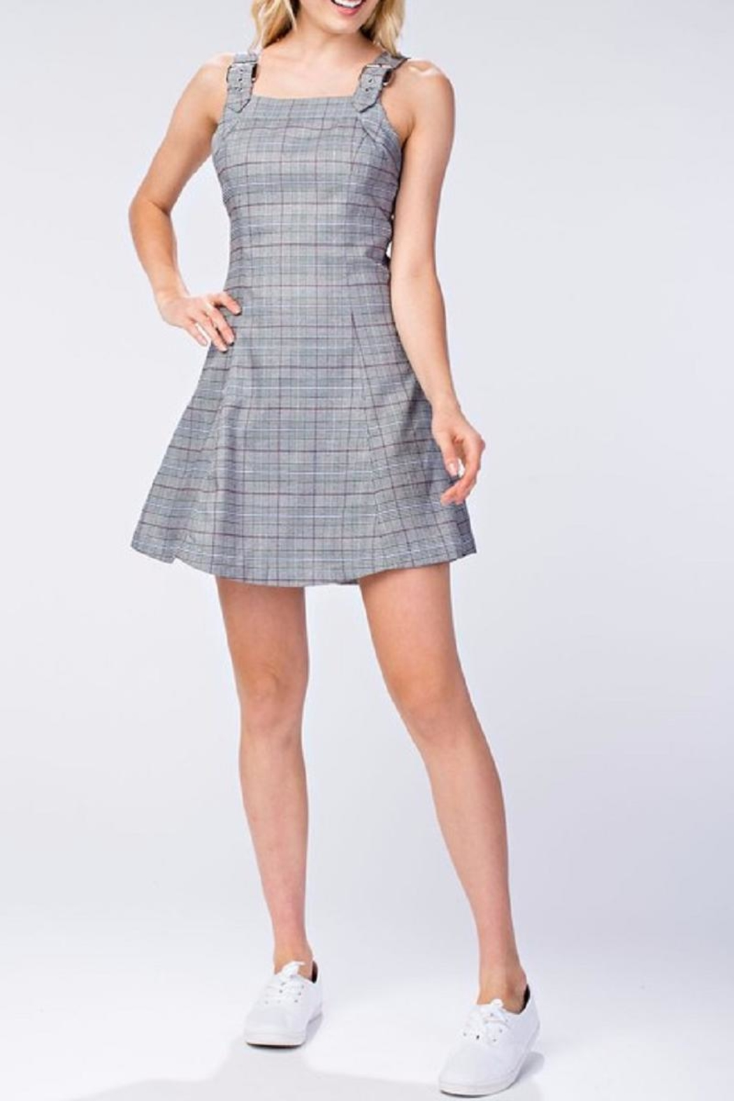 61f0ba13377 Honey Punch Plaid Tank Dress from New York by Dor L Dor — Shoptiques