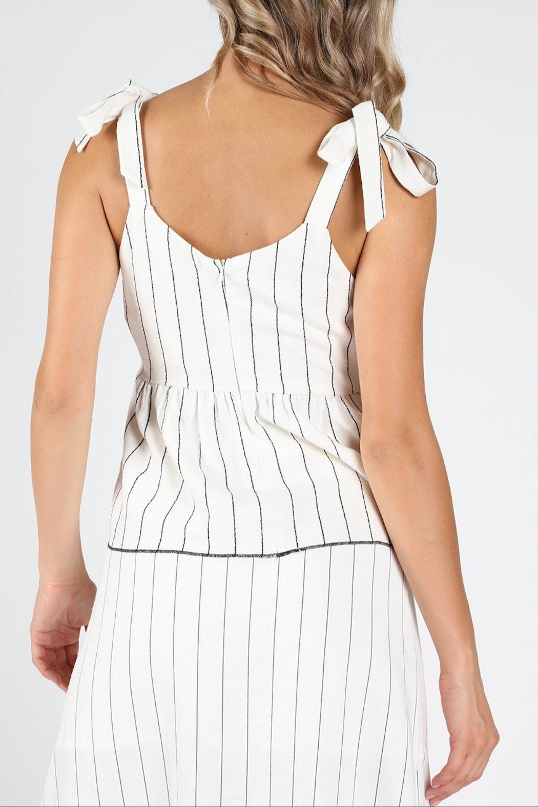 Honey Punch Play-Fair White-Stripe Top - Side Cropped Image