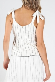 Honey Punch Play-Fair White-Stripe Top - Side cropped
