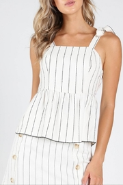 Honey Punch Play-Fair White-Stripe Top - Product Mini Image