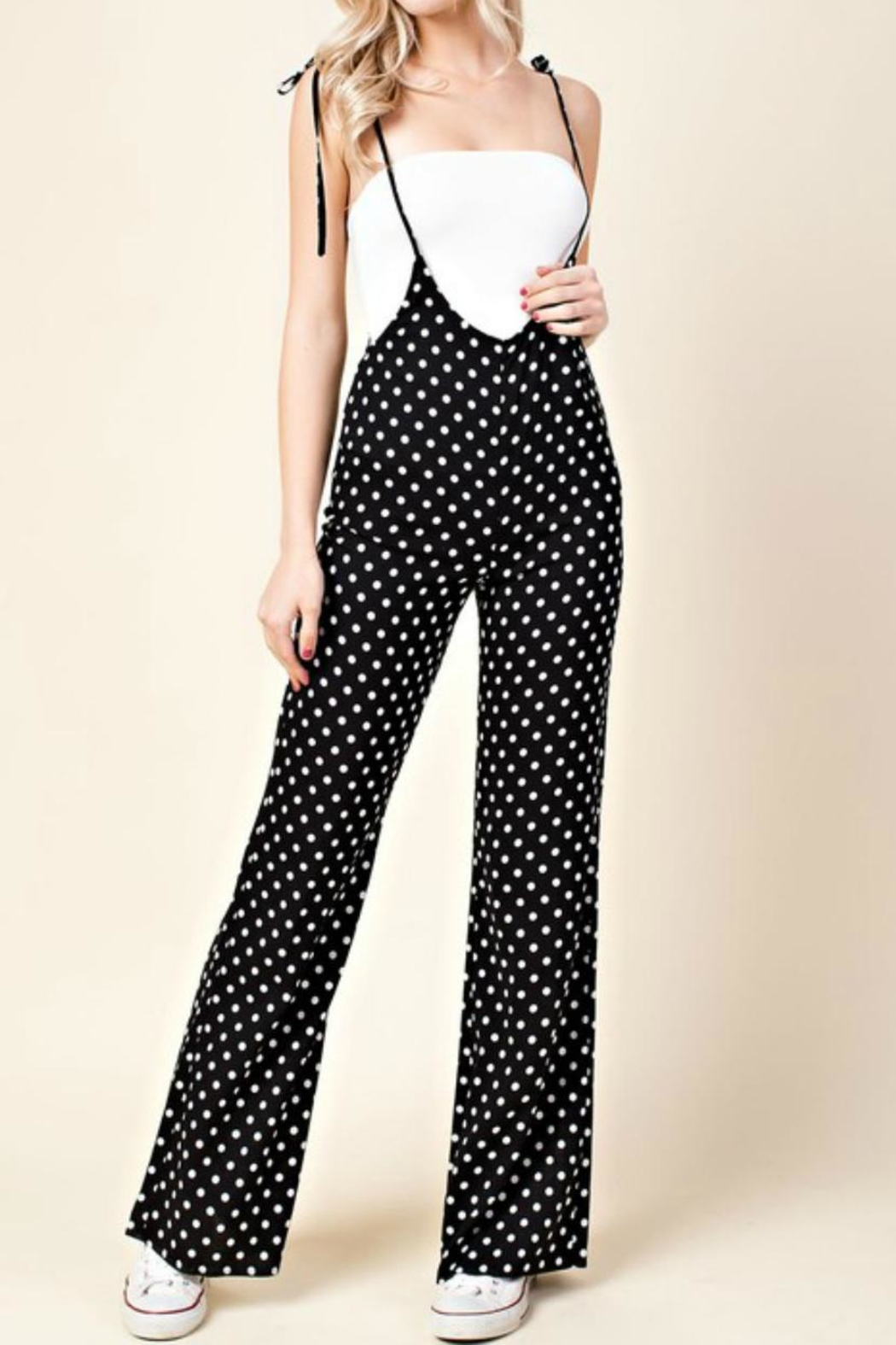 Honey Punch Polka Dot Jumpsuit - Main Image