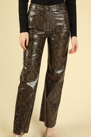 Honey Punch Python Leather Pants - Product Mini Image
