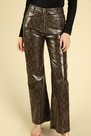 Honey Punch Python Leather Pants - Back cropped