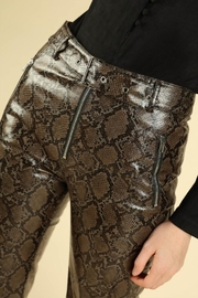 Honey Punch Python Leather Pants - Side cropped