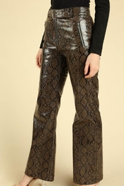 Honey Punch Python Leather Pants - Front full body