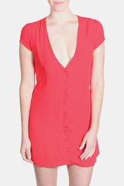 Honey Punch Red Bombshell Dress - Front full body