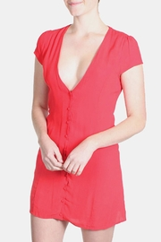 Honey Punch Red Bombshell Dress - Side cropped