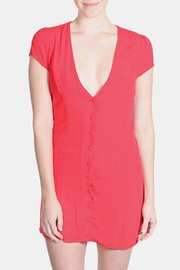 Honey Punch Red Bombshell Dress - Front cropped