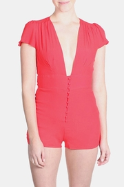 Honey Punch Bombshell Button Down Romper - Product Mini Image