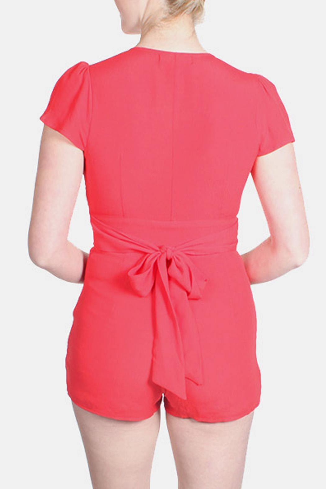 Honey Punch Bombshell Button Down Romper - Front Full Image