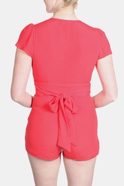 Honey Punch Bombshell Button Down Romper - Front full body