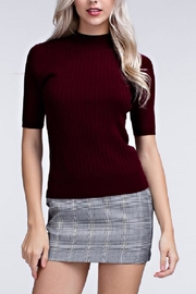 Honey Punch Ribbed Mock Neck Top - Product Mini Image