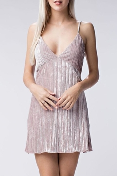Honey Punch Ribbed Velvet Mini-Dress - Product List Image