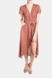 Honey Punch Rust Autumn Wrap Dress - Product Mini Image
