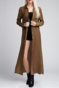Shoptiques Product: Satin Embroidered Duster