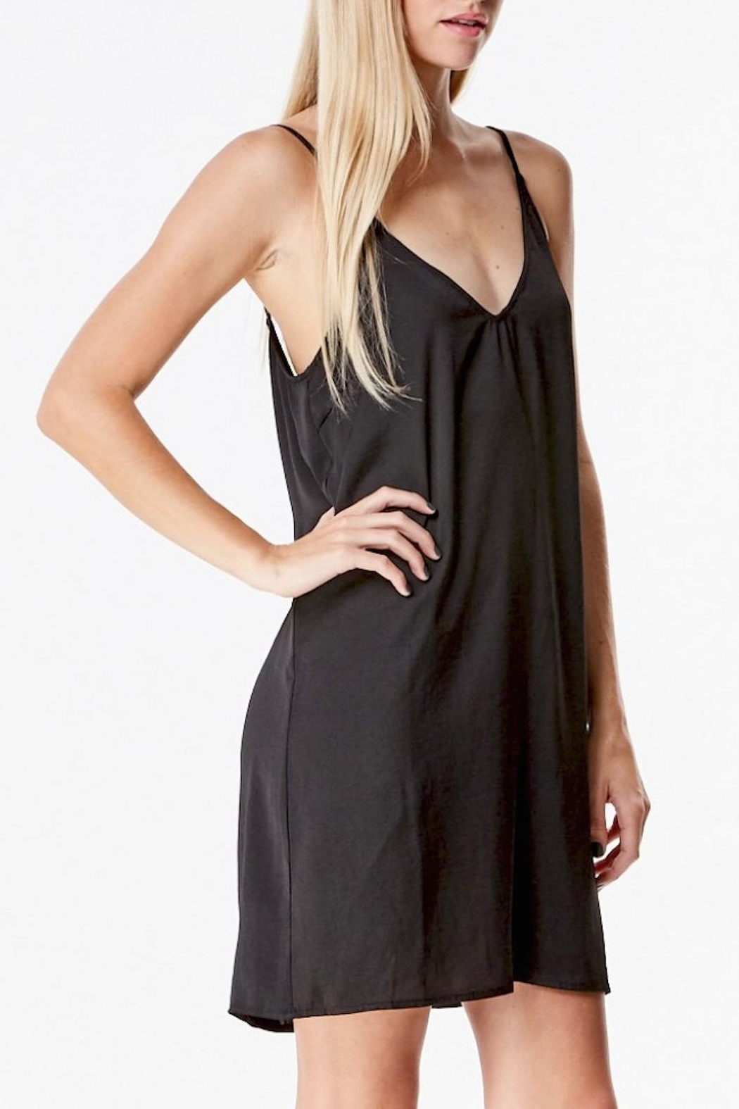 Honey Punch Satin Slip Dress - Front Full Image