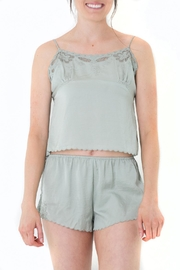 Honey Punch Scalloped Green Camisole Top - Product Mini Image