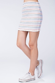 Honey Punch Smocked Bodycon Skirt - Side cropped