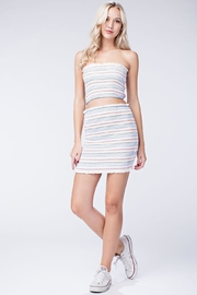 Honey Punch Smocked Bodycon Skirt - Front cropped