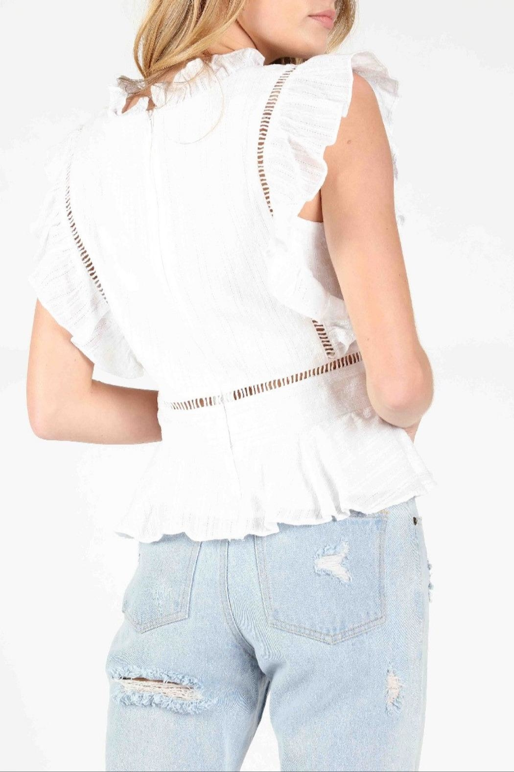 Honey Punch Socialite Ruffle Top - Side Cropped Image