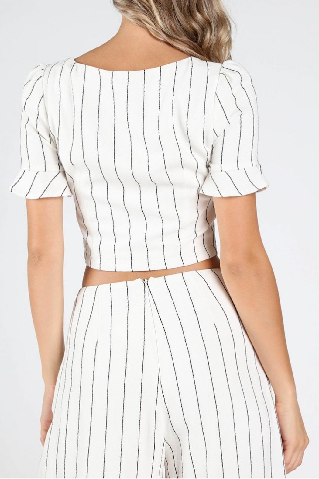 Honey Punch Spring Games Button-Blouse - Side Cropped Image