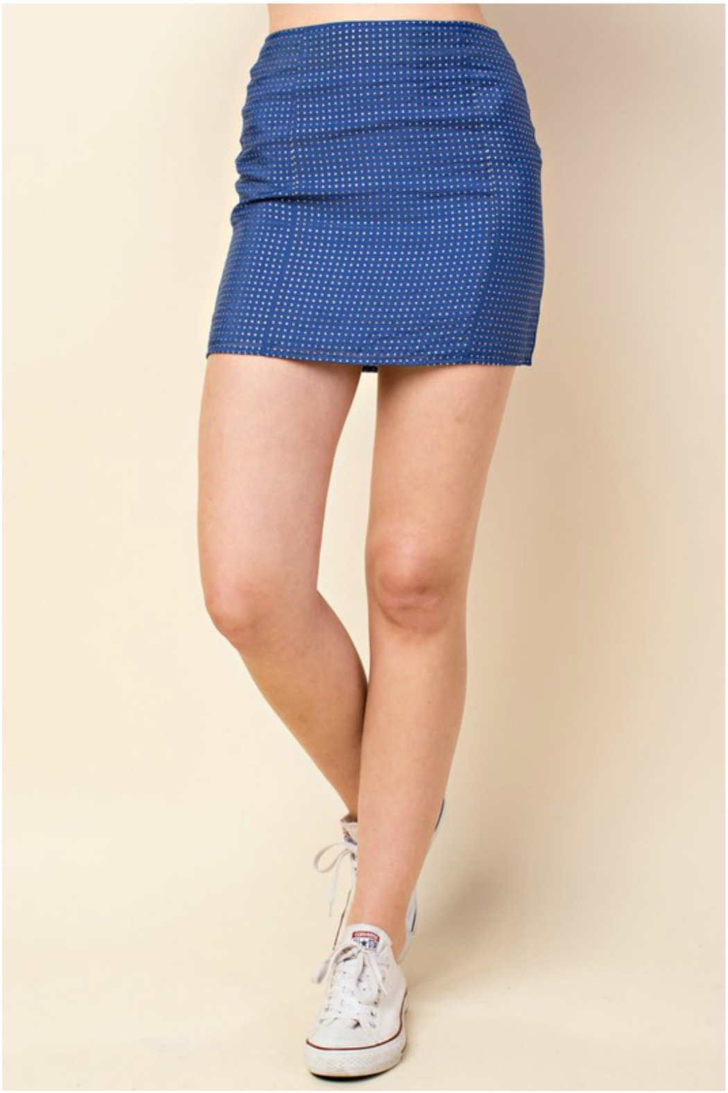 Honey Punch Star Print Skirt - Front Cropped Image
