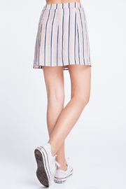 Honey Punch Stripe Button Skirt - Back cropped