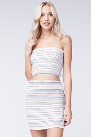 Honey Punch Stripe Crop Top - Front cropped