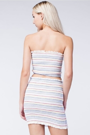 Honey Punch Stripe Crop Top - Back cropped