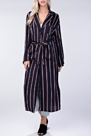 Honey Punch Stripe Robe Dress - Product Mini Image