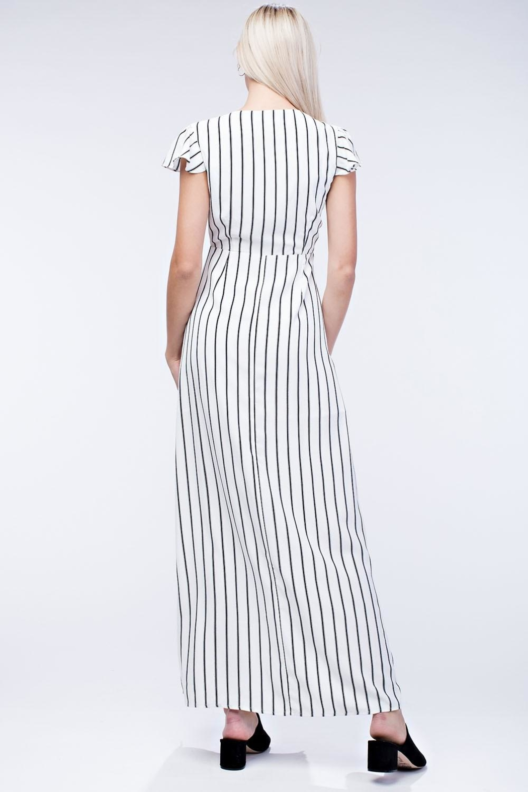 Honey Punch Stripe Maxi Dress - Side Cropped Image