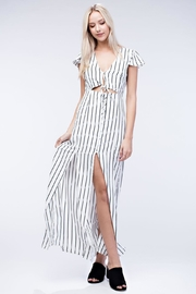Honey Punch Stripe Maxi Dress - Front cropped