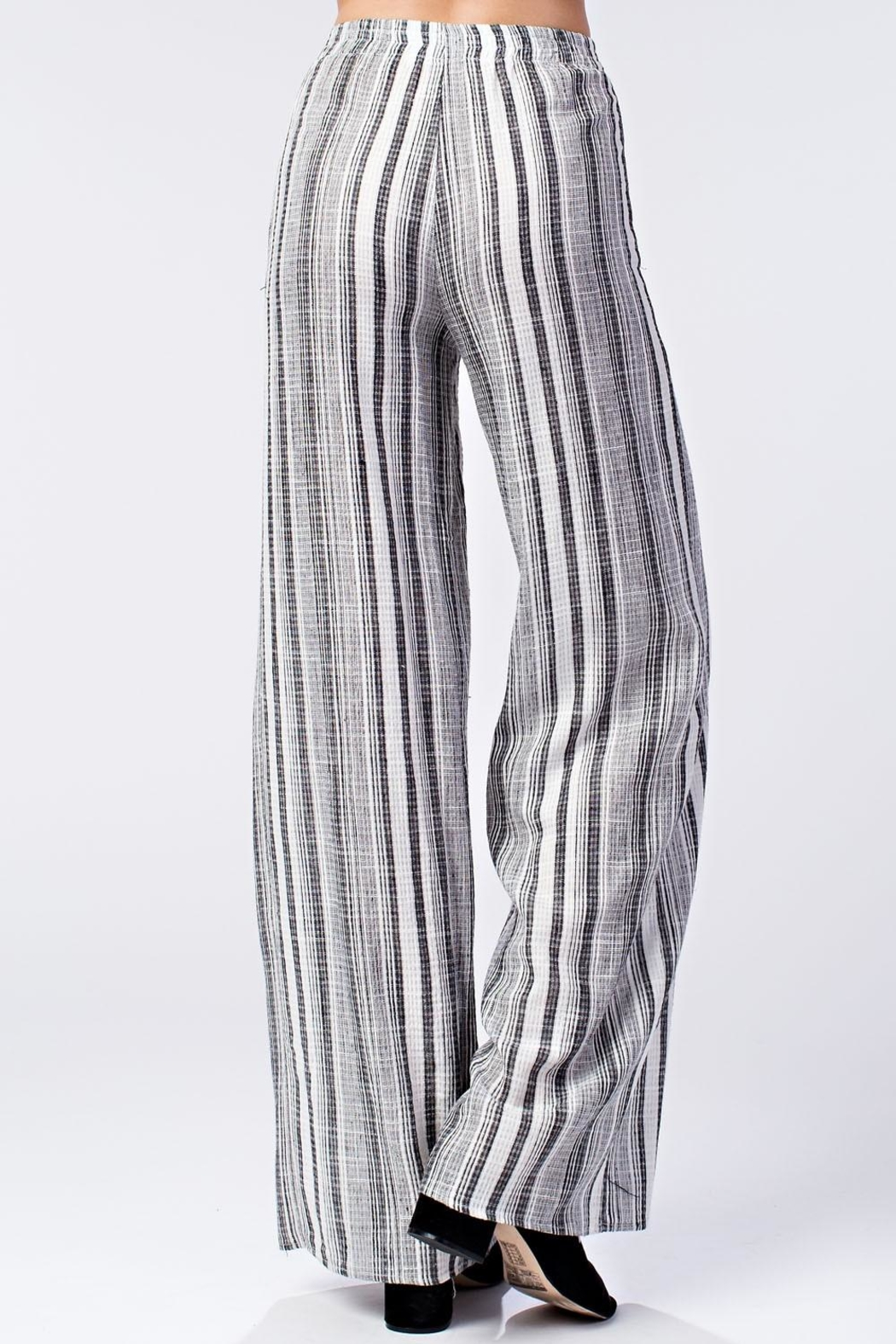 Honey Punch Stripe Pants - Side Cropped Image