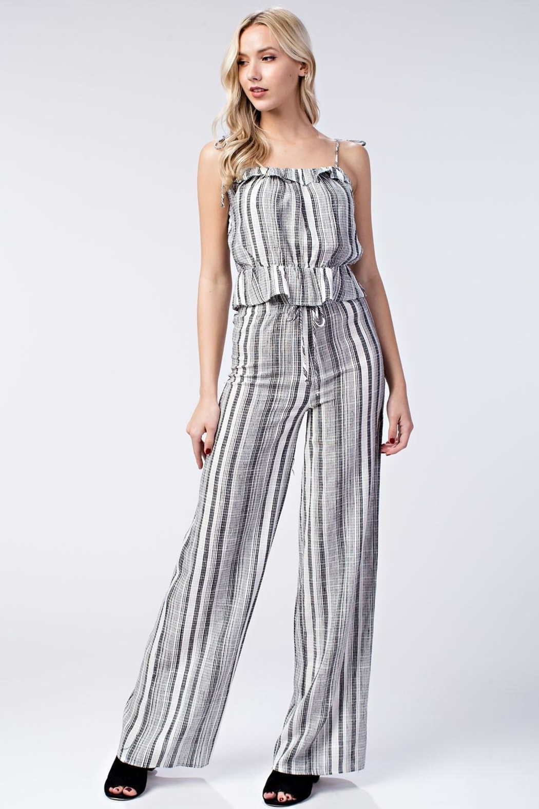Honey Punch Stripe Pants - Front Full Image