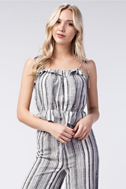 Honey Punch Stripe Ruffle Top - Product Mini Image
