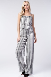 Honey Punch Stripe Ruffle Top - Front full body