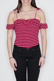 Honey Punch Striped Ribbed Bodysuit - Product Mini Image