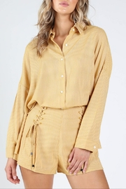 Honey Punch Sunshine-State Button-Down Shirt - Product Mini Image